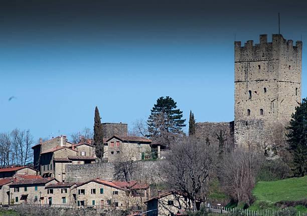 Tuscan medieval town stock photo