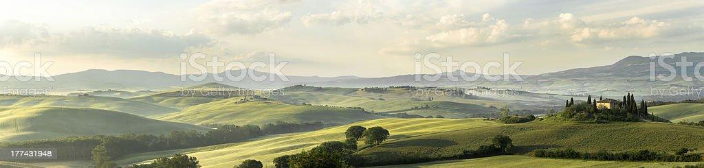 Tuscan panorama royalty-free stock photo