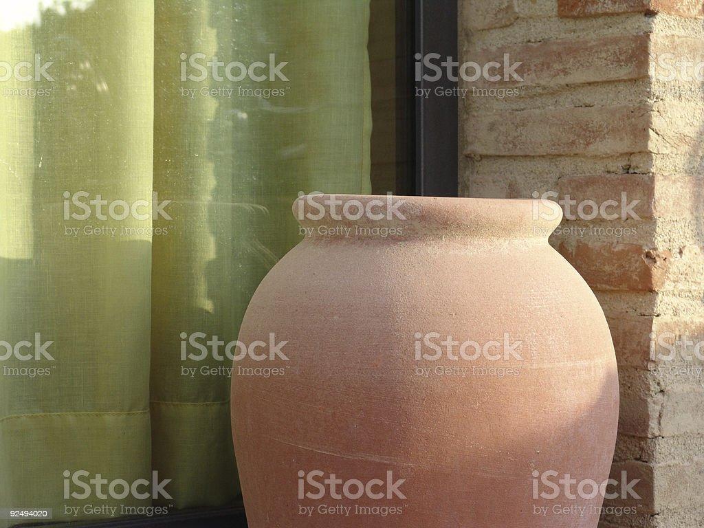 tuscan pot royalty-free stock photo