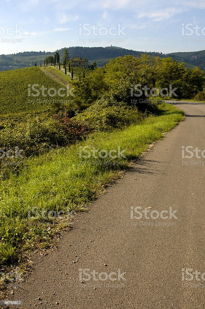 Tuscan Road royalty-free stock photo