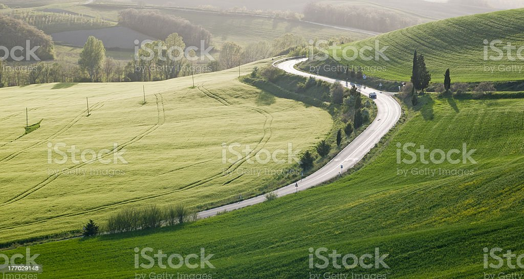 Tuscan roads royalty-free stock photo