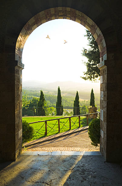 Tuscan scene stock photo