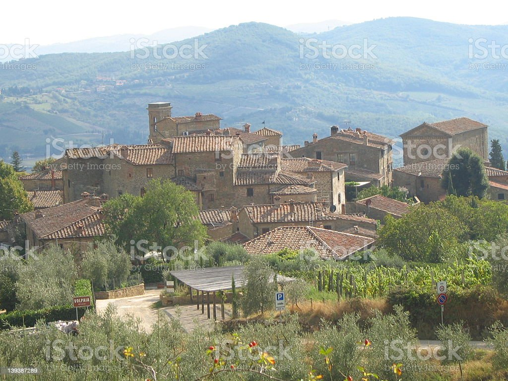 Tuscan town of Volpaia royalty-free stock photo
