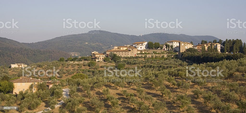 Tuscan Village royalty-free stock photo
