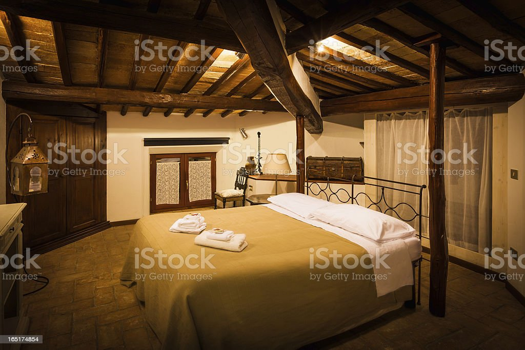 Tuscan Vintage B&B Room stock photo