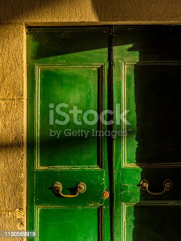 Rustic doorways in the Town of Orvieto in Umbrian countryside of Italy