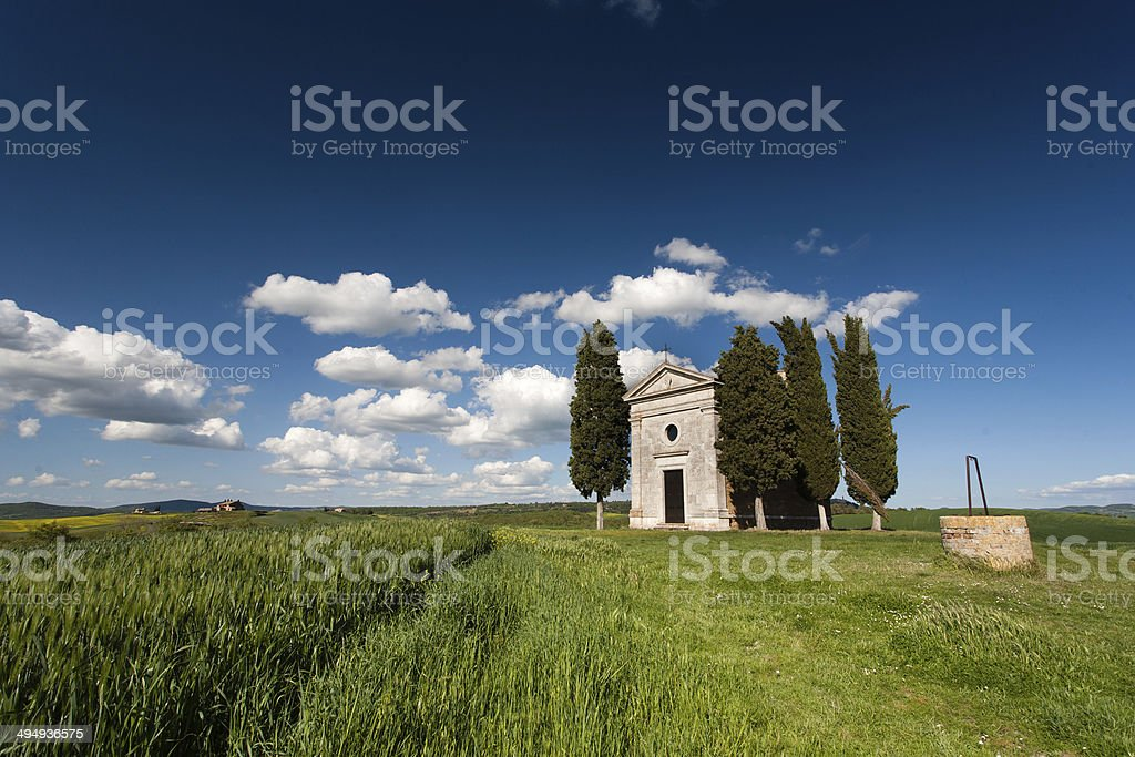 Tuscany chapel stock photo