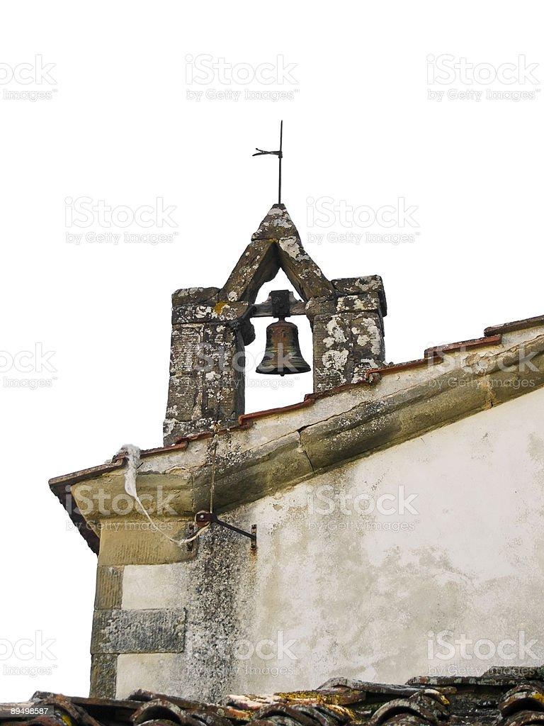 Toscana iglesia Bell aislado foto de stock libre de derechos