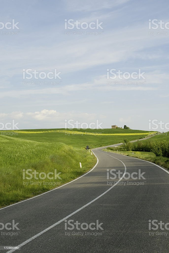 Tuscany country road royalty-free stock photo