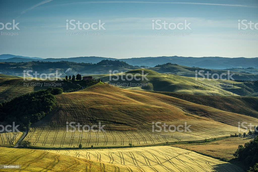 Tuscany countryside stock photo