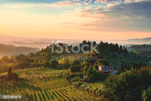 istock Tuscany dawn 1021054474