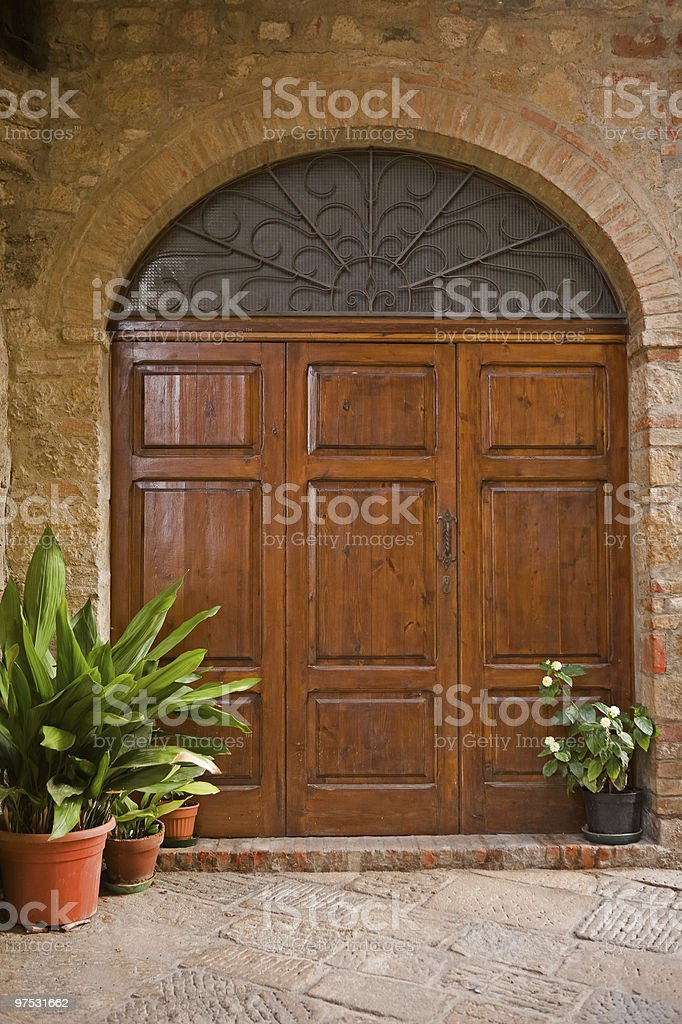 tuscany door royalty-free stock photo