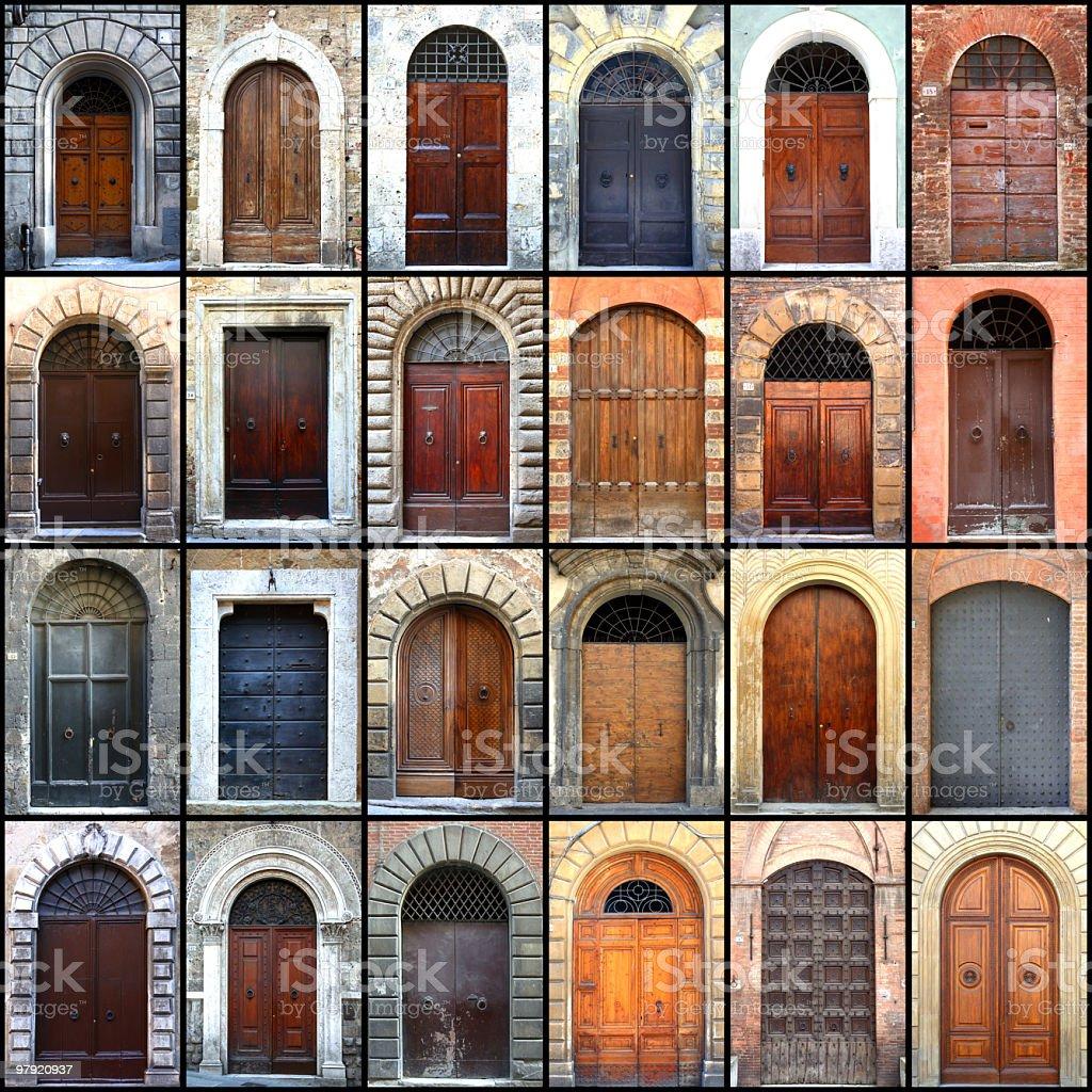 Tuscany doors - Porte della Toscana royalty-free stock photo