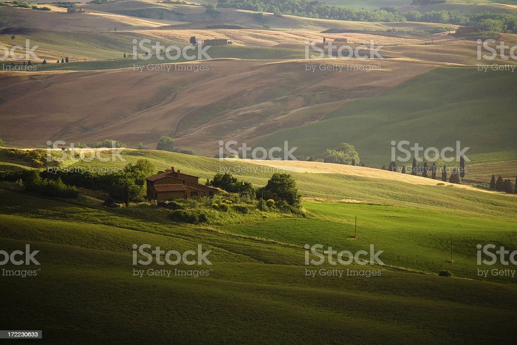 tuscany farm house royalty-free stock photo