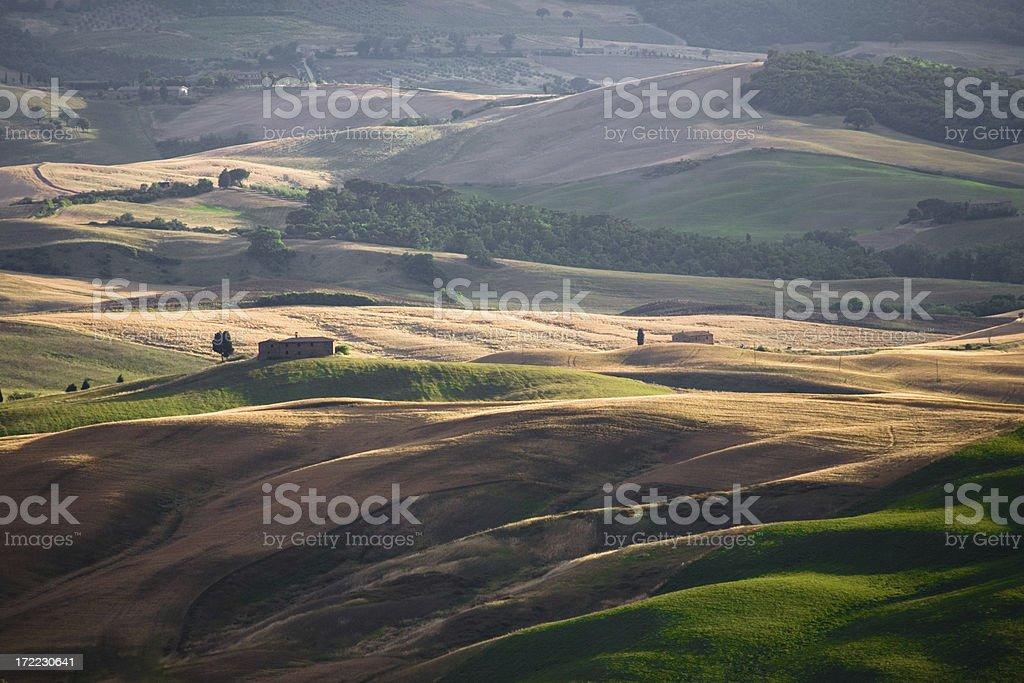 tuscany farm land royalty-free stock photo