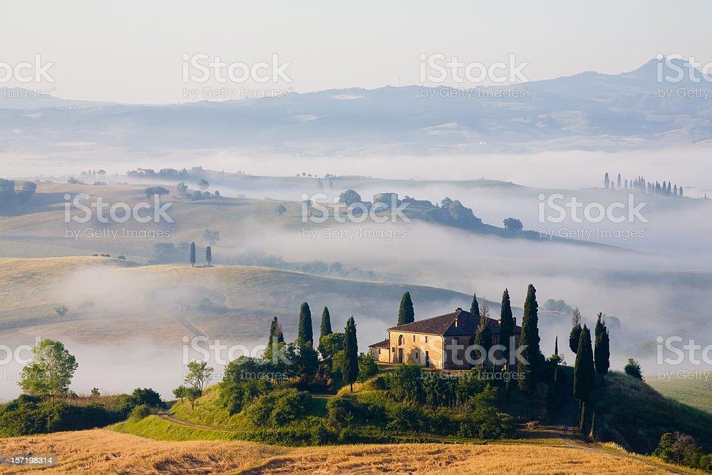 tuscany farmhouse royalty-free stock photo
