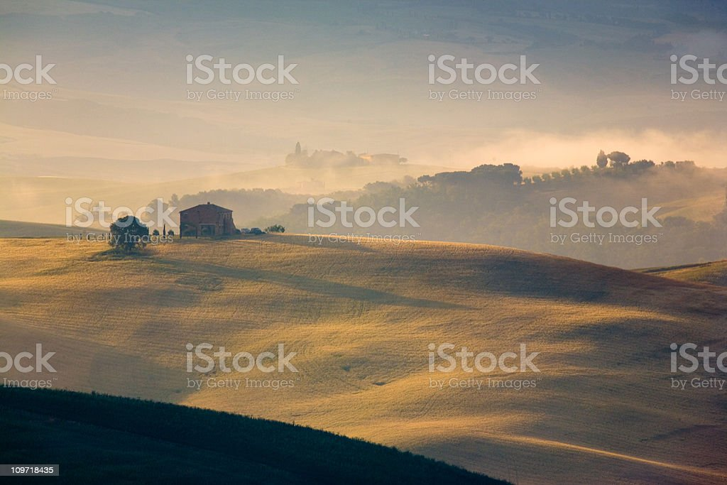 tuscany farmland royalty-free stock photo