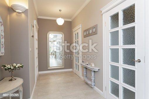 Tuscany - grey hallway with huge mirror