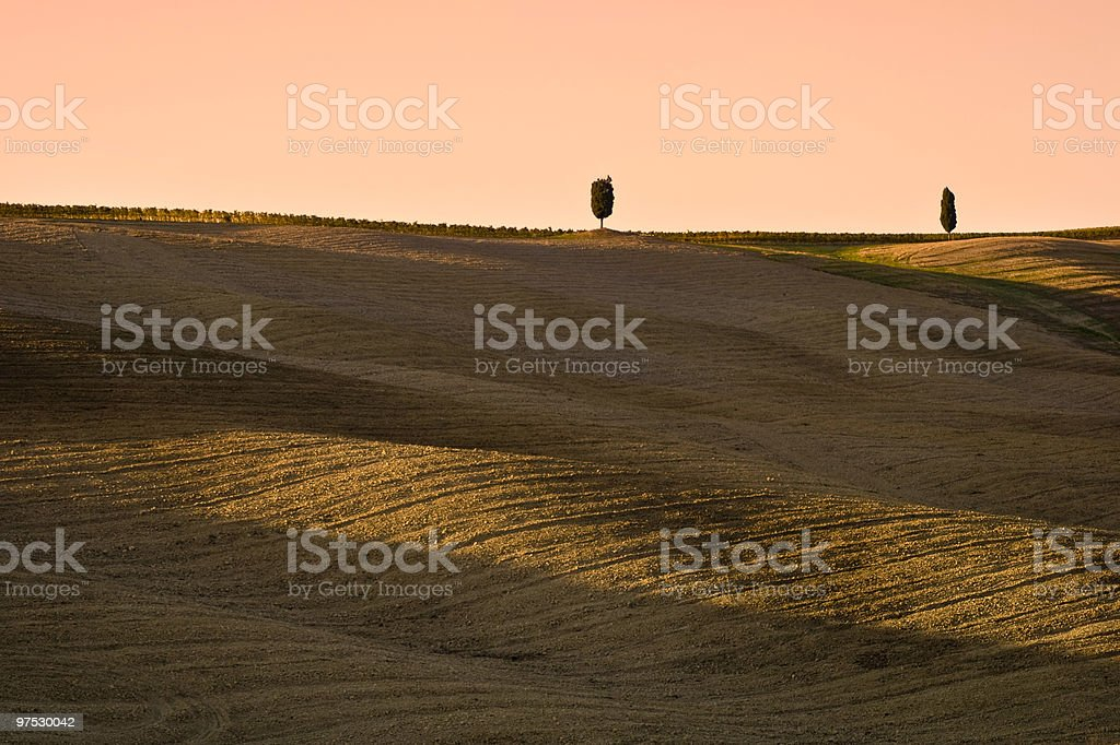 Tuscany Hill royalty-free stock photo