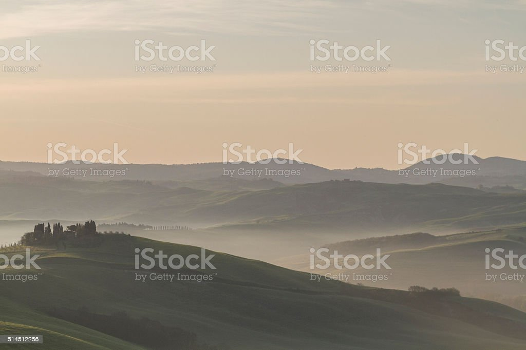 Tuscany in morning stock photo