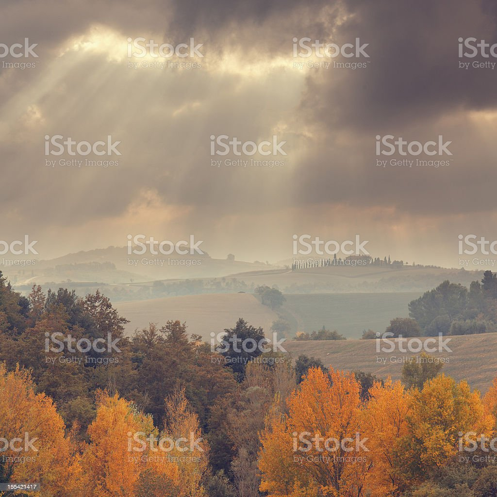 Tuscany in the autumn royalty-free stock photo