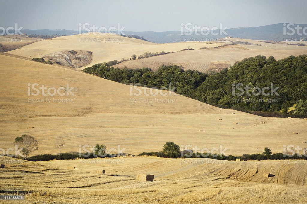Tuscany Italy, landscape of the val d'orcia royalty-free stock photo