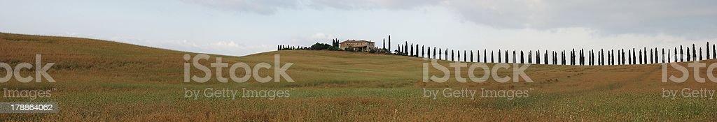 Tuscany landscape at summer royalty-free stock photo