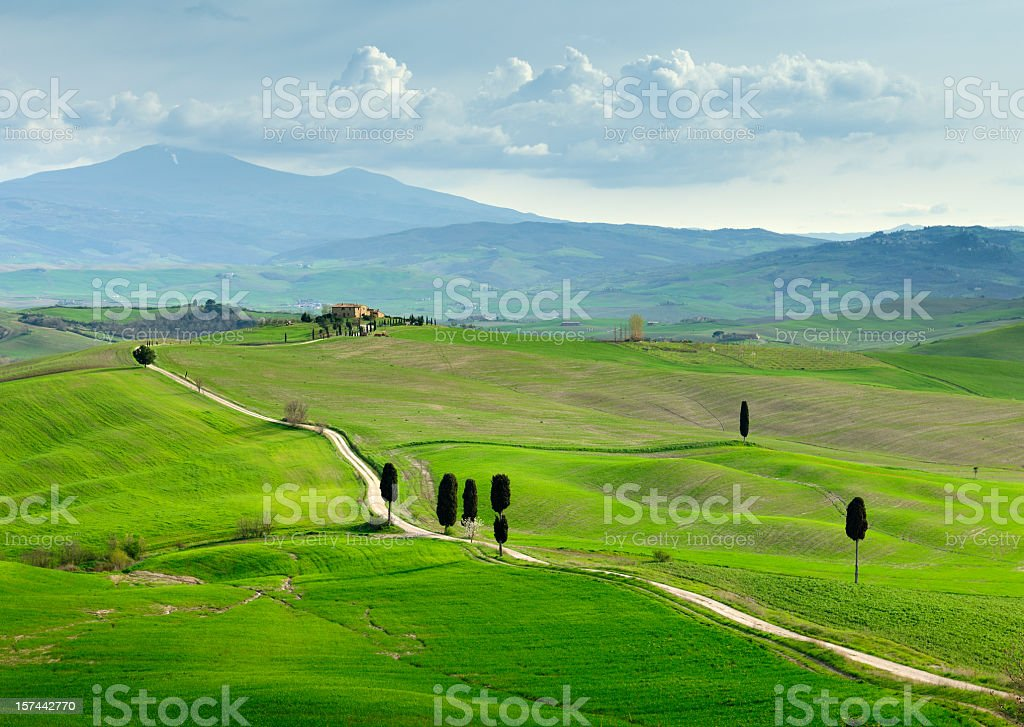 Tuscany Landscape in Spring royalty-free stock photo