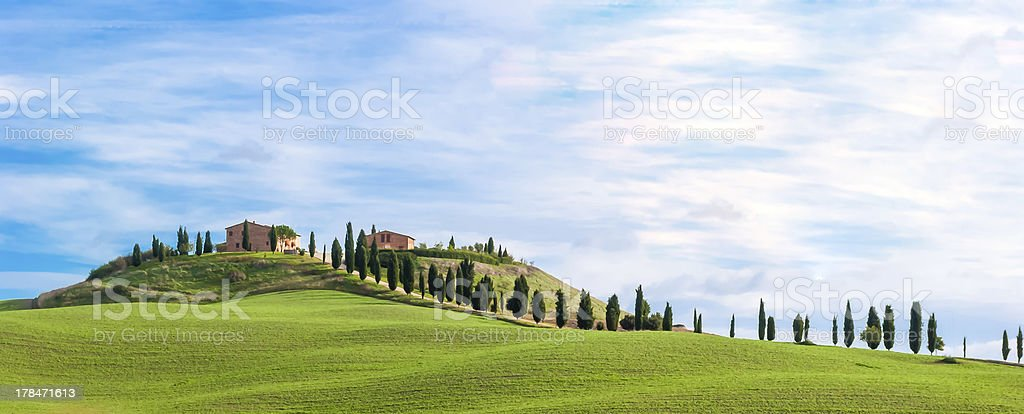 Tuscany, landscape stock photo