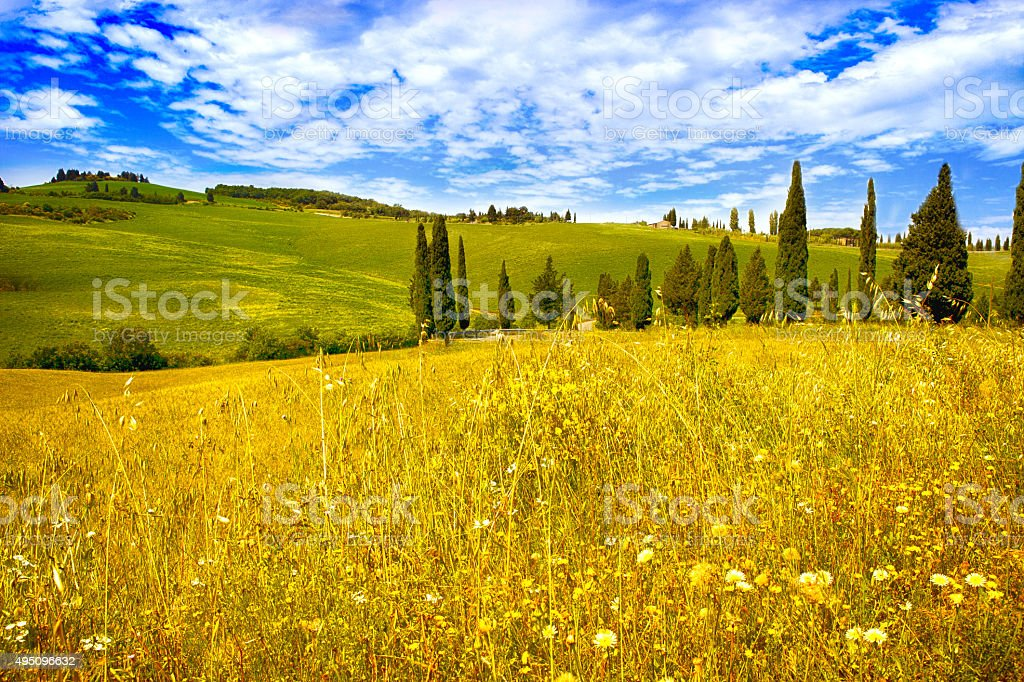 Tuscany landscape stock photo