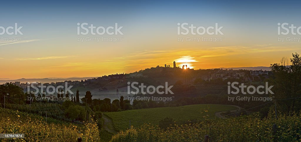 Tuscany landscape XXXL - HDR stock photo