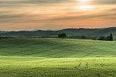 istock tuscany lanscape, sunset time, Italy 1307238688