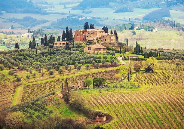 tuscany - ferienhaus toskana stock-fotos und bilder