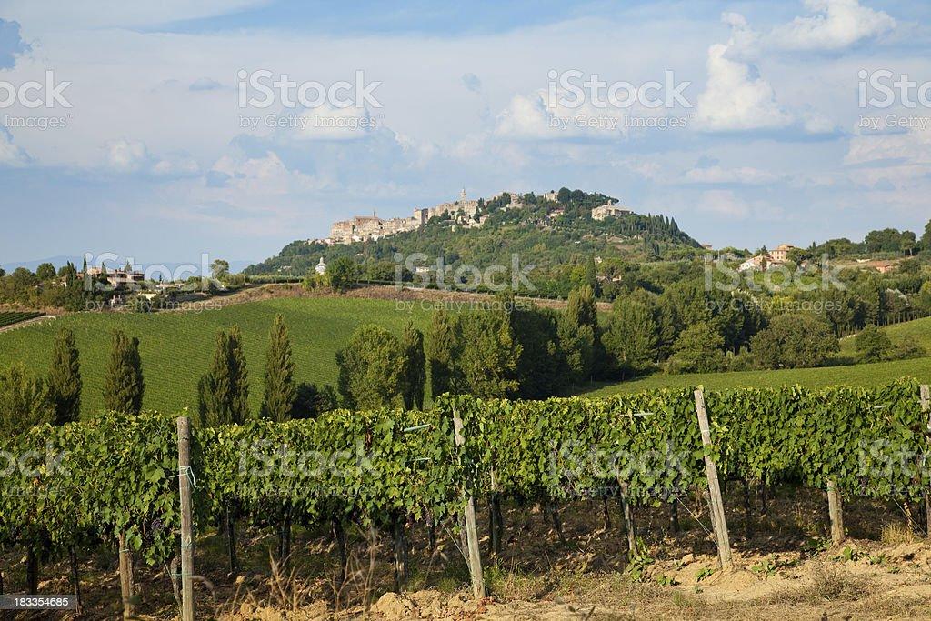 Tuscany renaissance village royalty-free stock photo