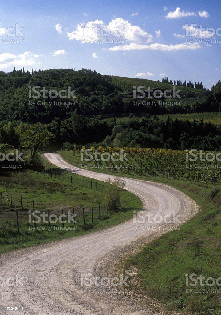 Tuscany Road royalty-free stock photo