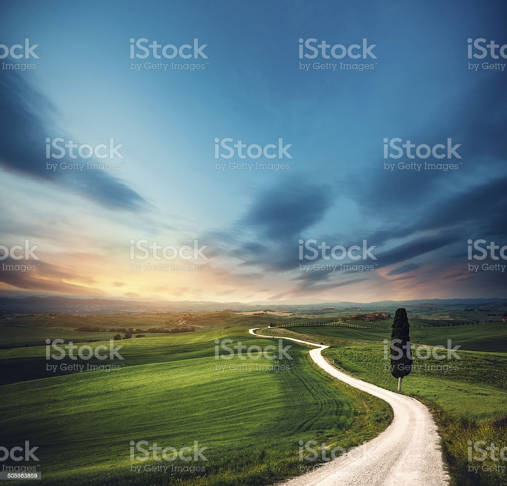 Tuscany Road stock photo