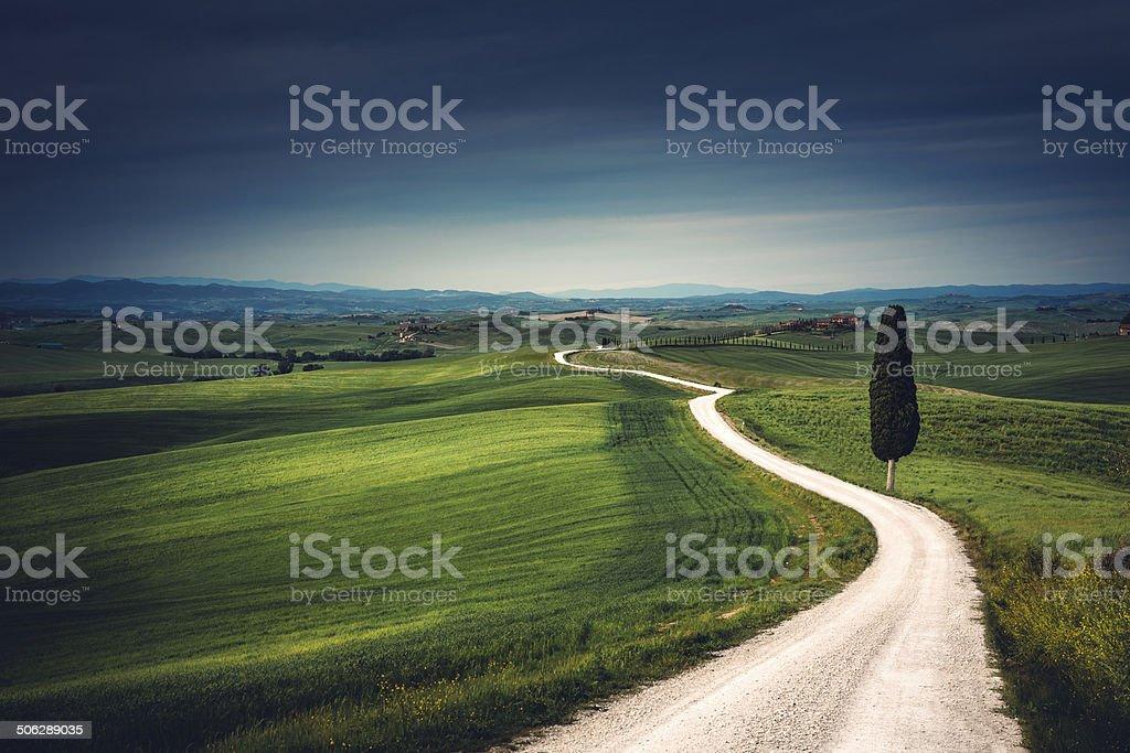 Tuscany Road stock photo
