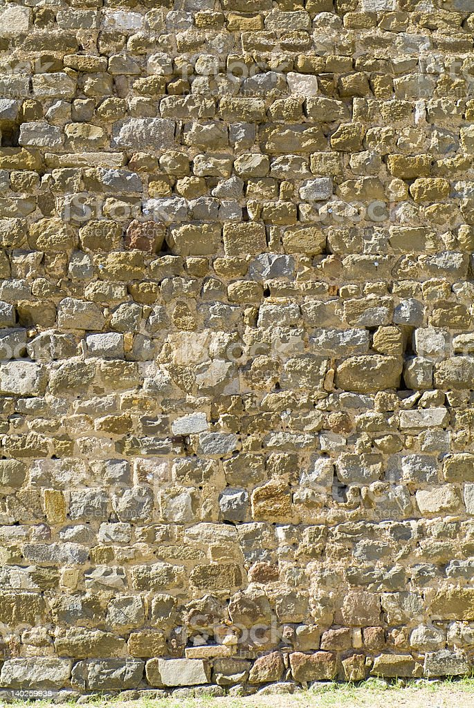 Tuscany Stone Wall Texture Background Series royalty-free stock photo