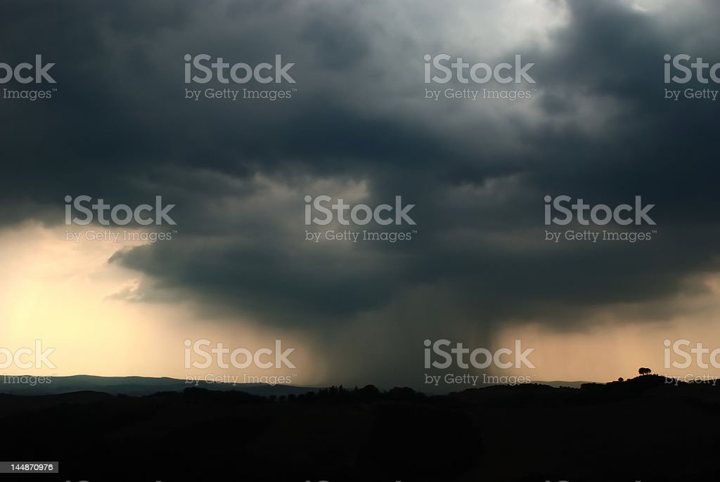 Tuscany thunderstorm no.1 royalty-free stock photo