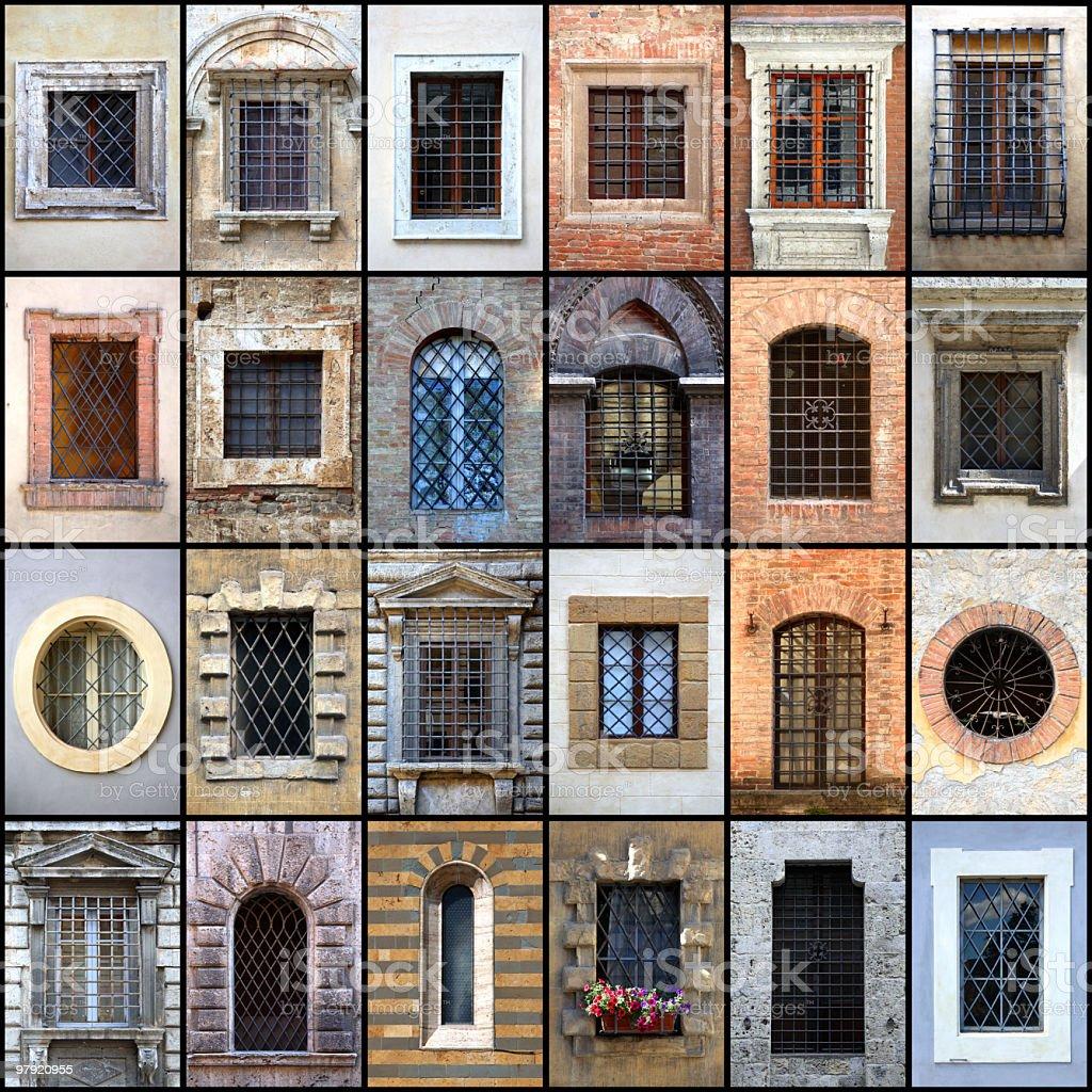 Tuscany windows - Finestre della Toscana royalty-free stock photo