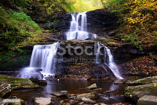 Tuscarora Falls at Ricketts Glen State Park, Pennsylvania, USA
