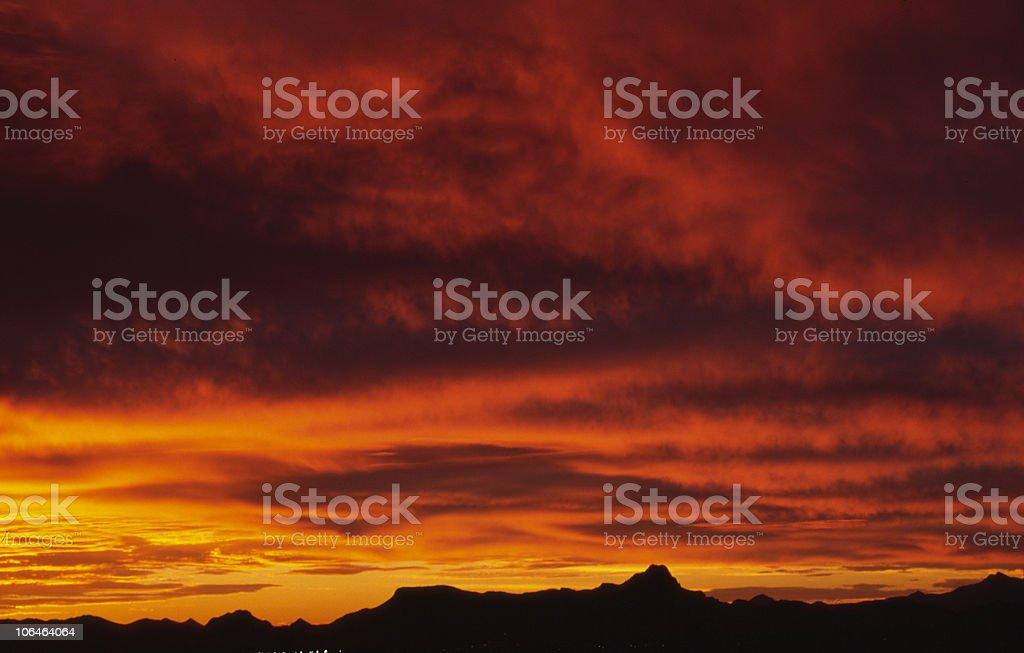 Tuscon Sunset 2 royalty-free stock photo
