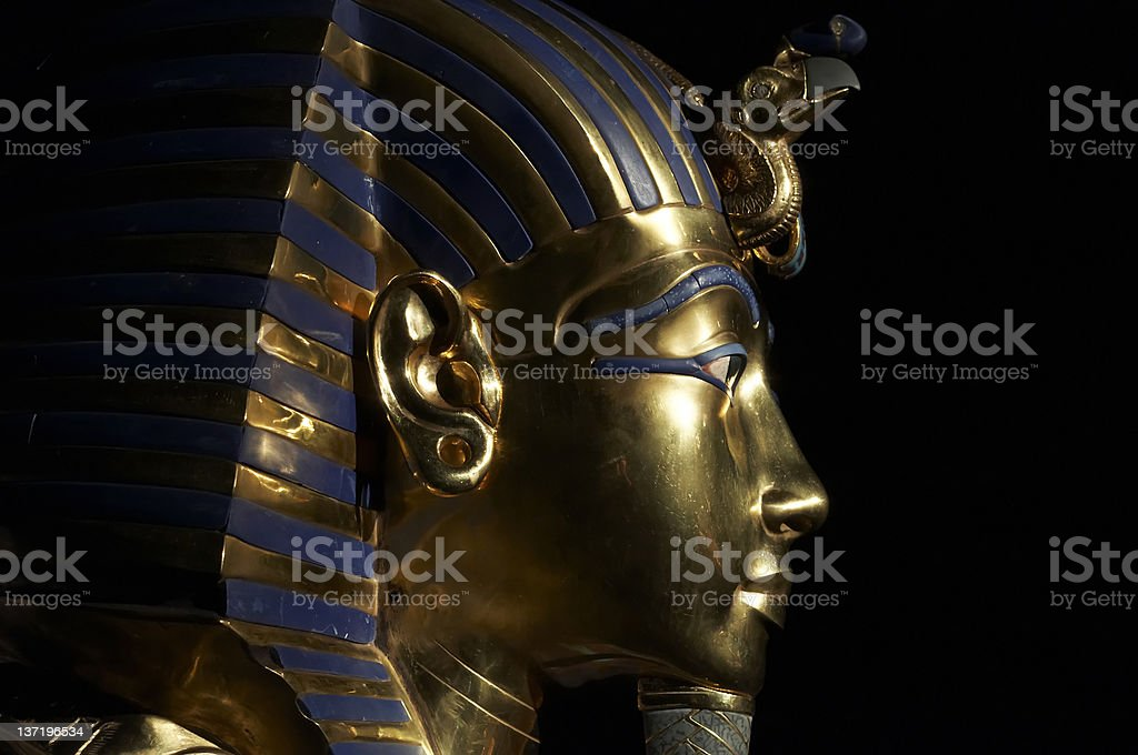Tutankhamen's golden mask stock photo