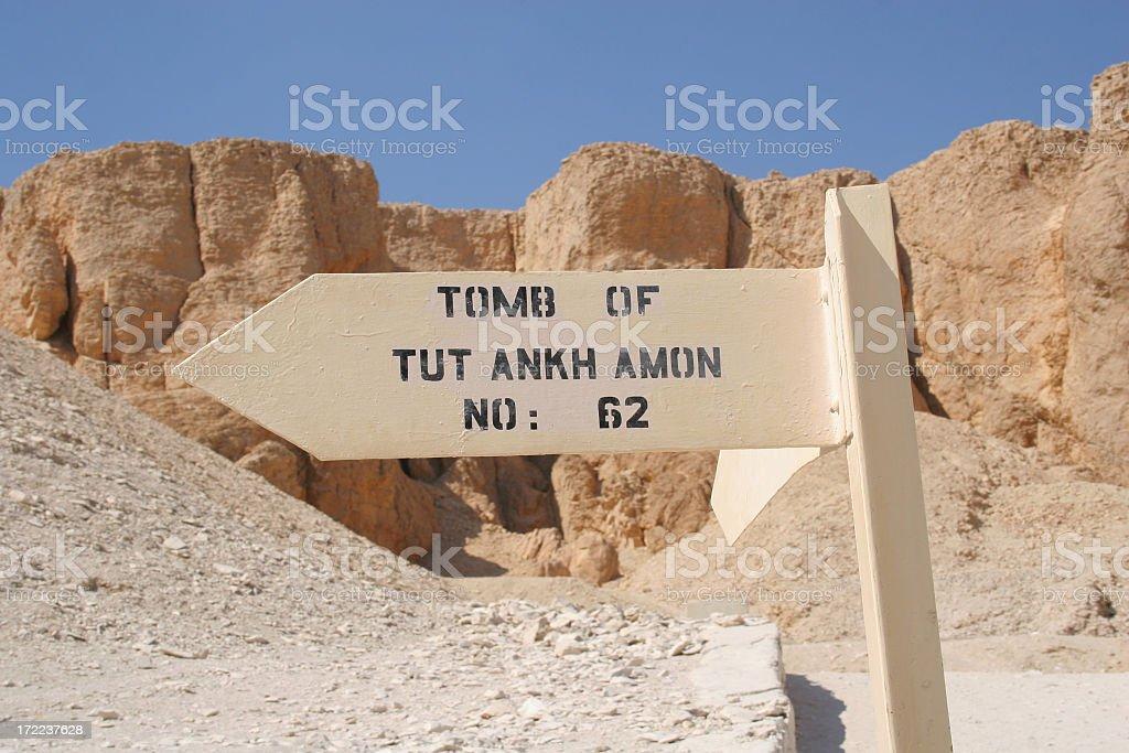 Tutankhamon's Tomb, Valley of the Kings, Luxor, Egypt stock photo