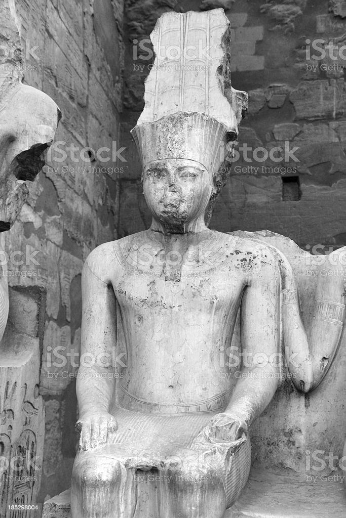 Tutankhamun Statue, Luxor Temple, Egypt royalty-free stock photo