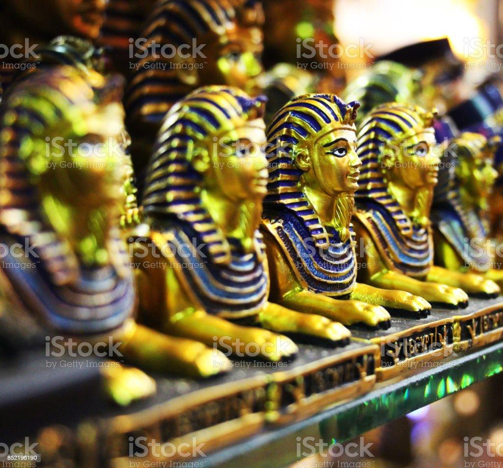 tutankhamun trinket in Egypt stock photo