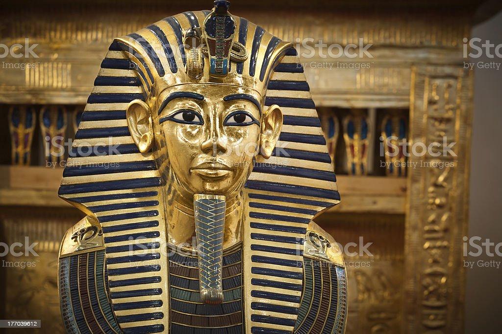Tutankhamun's funerary mask stock photo