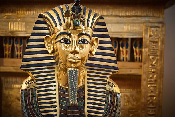 tutankhamun's funerary mask - egyptisk kultur bildbanksfoton och bilder