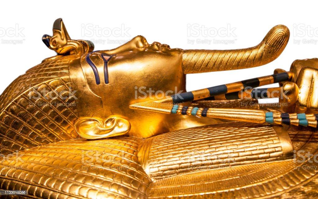 Tutankhamun's sarcophagus stock photo