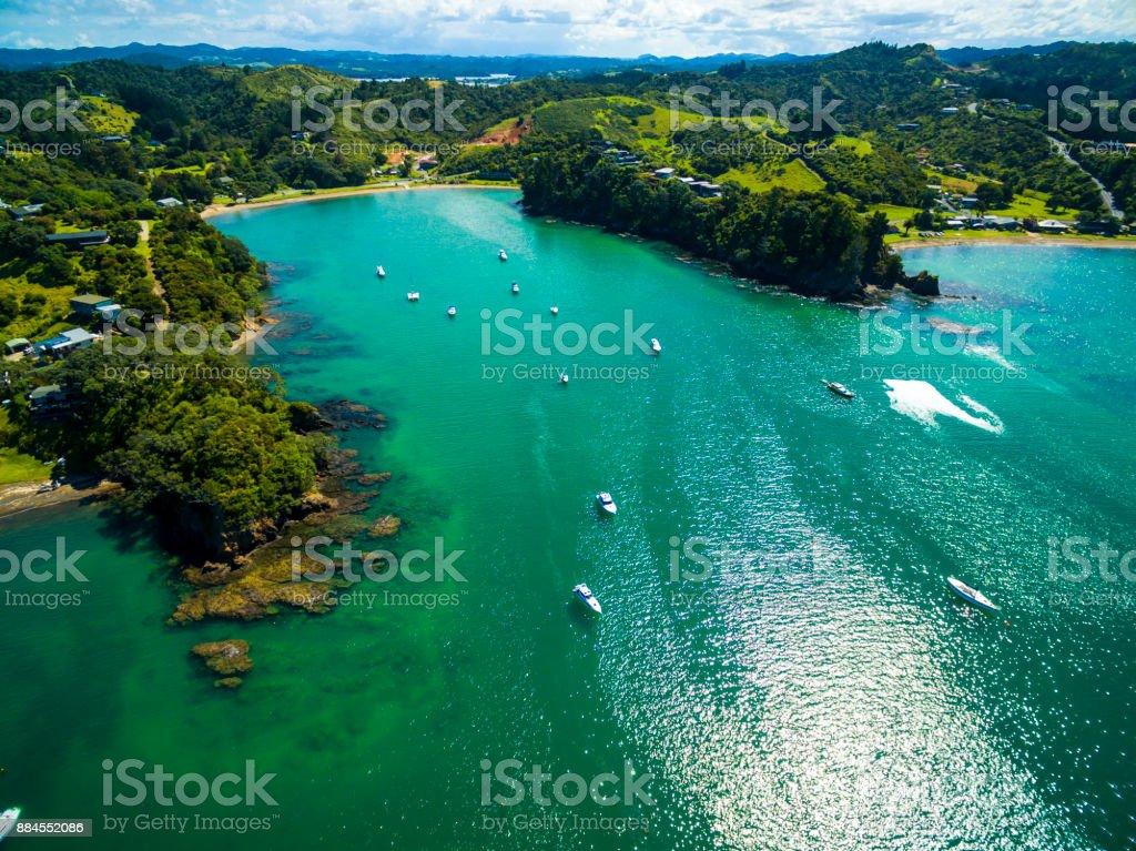 Tutukaka Aerial View stock photo